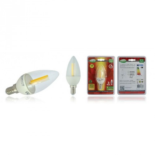 Ampoule à LED flamme à filament E14 - 3W - Eclairage
