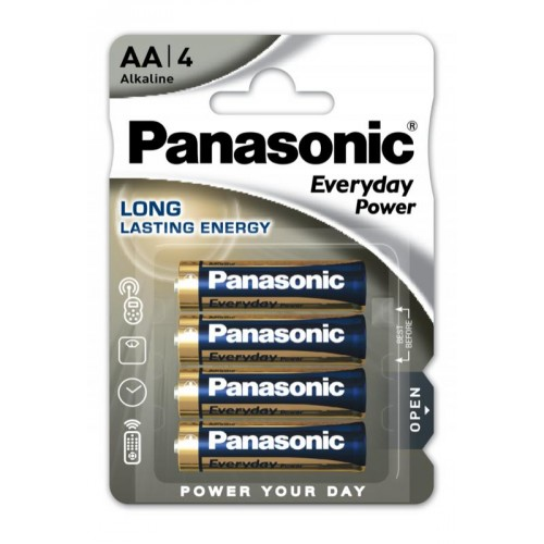 AA - Blister 4 piles alcaline Panasonic Everyday Power