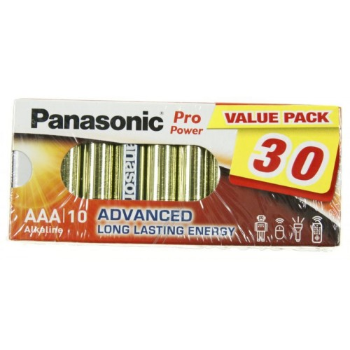 AAA - Blister 30 Piles alcaline Panasonic Pro Power