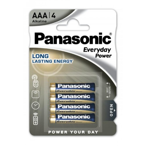 AAA - Blister 4 piles alcaline Panasonic Everyday Power