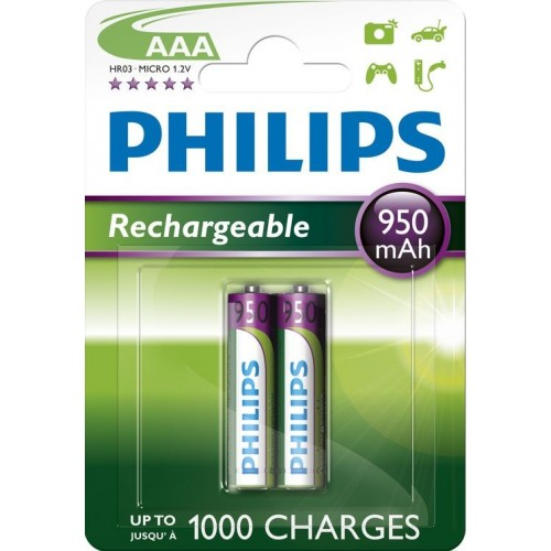 aaa pile rechargeable 950mah philips r03b2a95. Black Bedroom Furniture Sets. Home Design Ideas