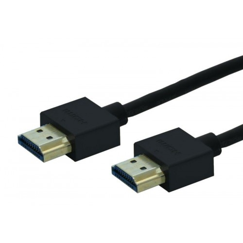 Cordon HDMI 1.4 haute vitesse Slim - Long. 1,00m